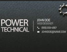#18 untuk Design some Business Cards for Power technical oleh f0tis