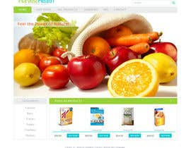 #10 for Design a Website Mockup for A Health Food Shop af nole1