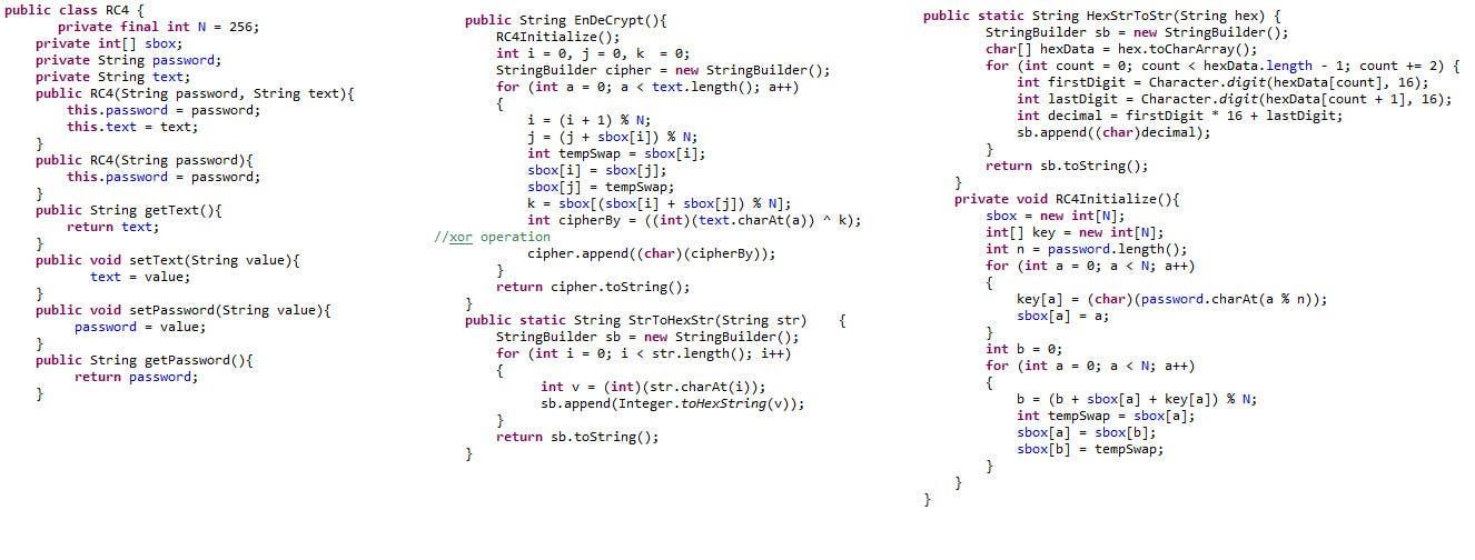Kilpailutyö #5 kilpailussa Port C# of RC4 implementation to Java - #CLOSED#