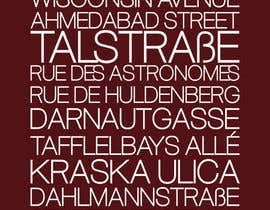 #10 para Clean, simple text based poster for printing: Street names using nice fonts por jamnepo