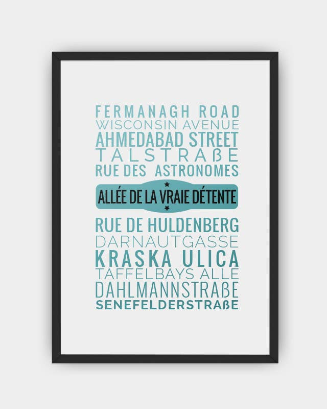 Contest Entry #18 for Clean, simple text based poster for printing: Street names using nice fonts