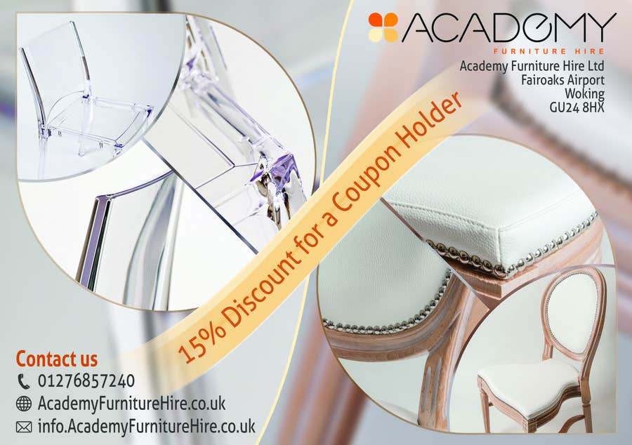 """Konkurrenceindlæg #                                        10                                      for                                         Wedding Show """"Product & Discount Flyer"""" - Academy Furniture Hire"""