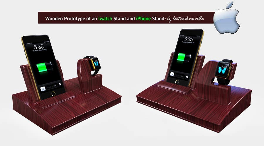 Bài tham dự cuộc thi #64 cho Design and Create a 3d iwatch wooden prototype