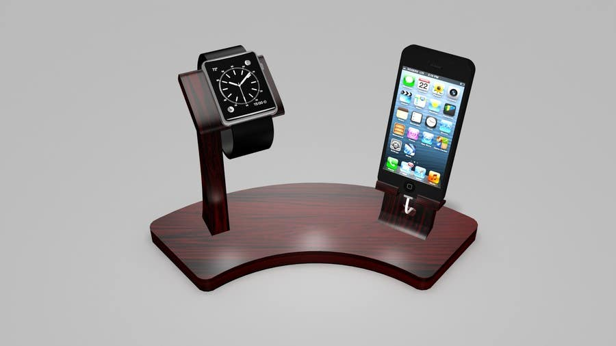 Bài tham dự cuộc thi #4 cho Design and Create a 3d iwatch wooden prototype