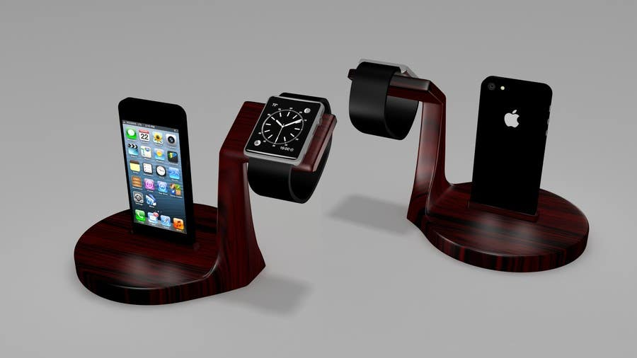 Bài tham dự cuộc thi #27 cho Design and Create a 3d iwatch wooden prototype