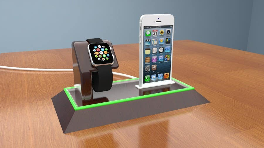 Bài tham dự cuộc thi #36 cho Design and Create a 3d iwatch wooden prototype