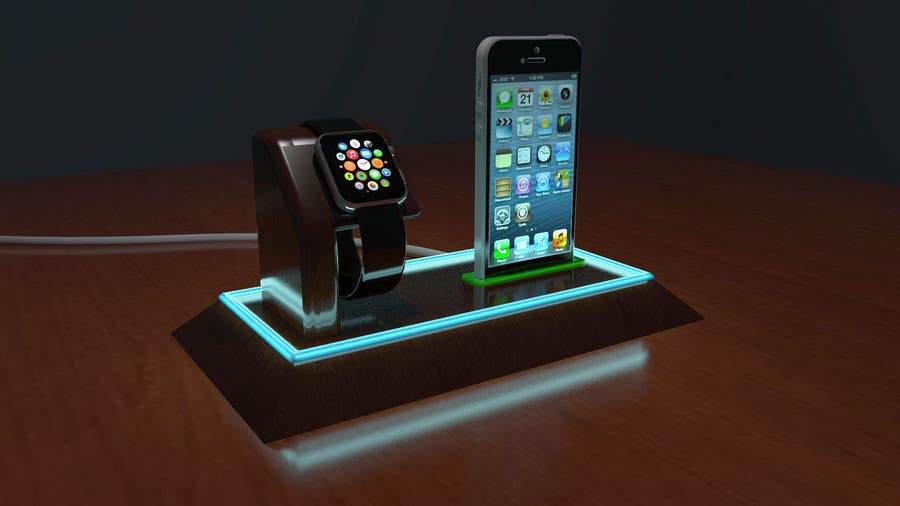 Bài tham dự cuộc thi #38 cho Design and Create a 3d iwatch wooden prototype