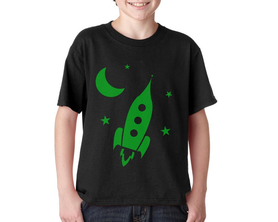 Penyertaan Peraduan #12 untuk I need some Graphic Design for glow in the dark boys t-shirts