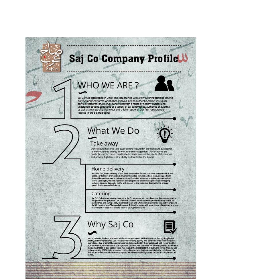 Inscrição nº 8 do Concurso para Design a Company Profile