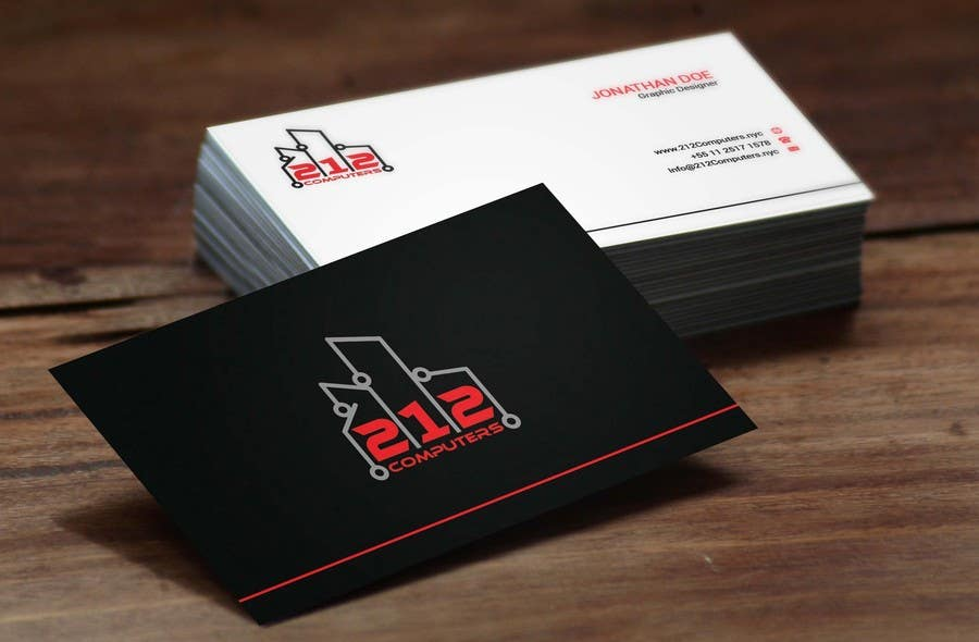 Contest Entry #                                        69                                      for                                         Design some Business Cards for 212 computers