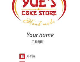 Dada13 tarafından Develop a profile (logo, business card, sticker) for a Cake Store için no 32