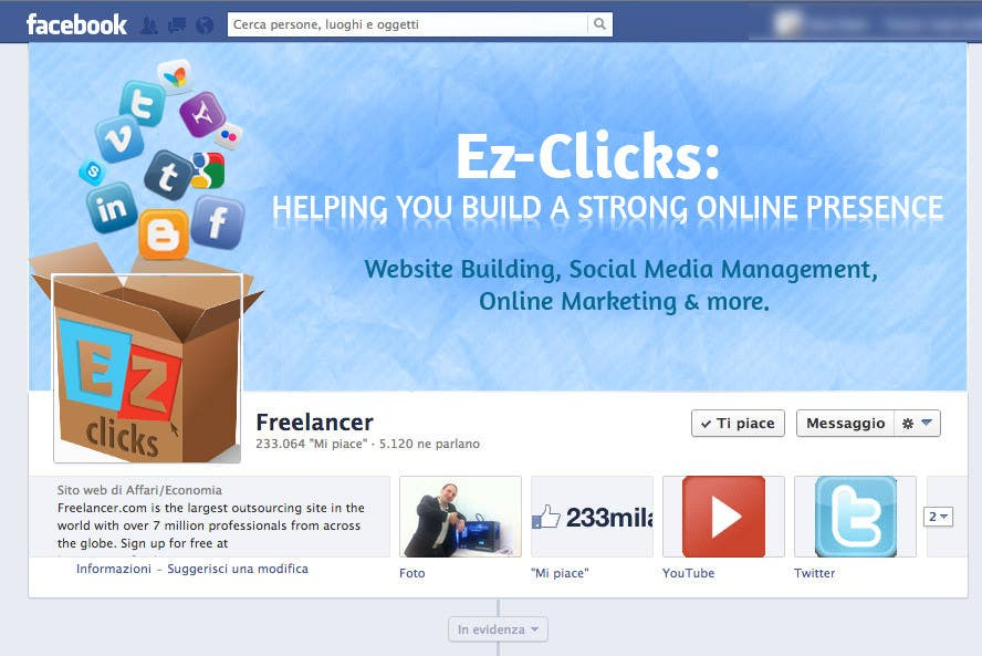 #14 for Design a Cool Banner For Ez-Clicks by holecreative