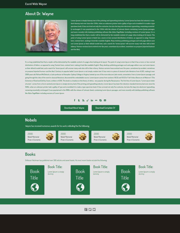 Penyertaan Peraduan #4 untuk Design a Website Mockup for a web page 1