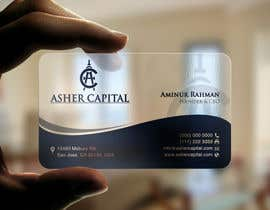 #153 para Design some Business Cards for Asher Capital por aminur33