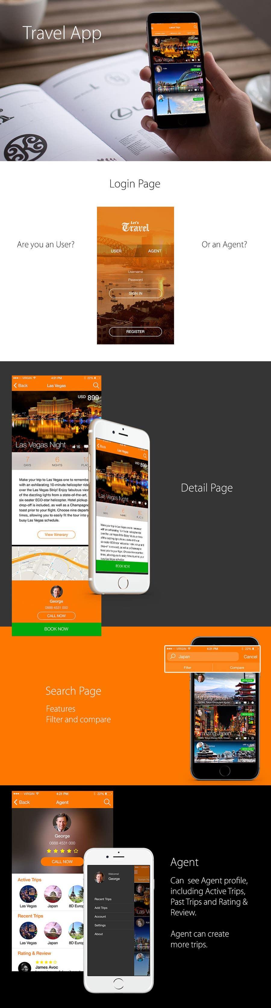 Kilpailutyö #11 kilpailussa Design an App Mockup