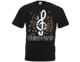 #15 cho Design a T-Shirt for the band Weird Party bởi dilukachinda