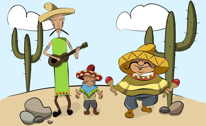 Inscrição nº 16 do Concurso para Illustration of 3 Cartoon Mexican Guys