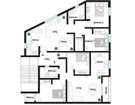 #22 para Two apartments design por lentzarq