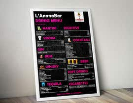 Nro 6 kilpailuun Design a drink menu for a bar käyttäjältä todtodoroff