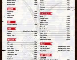 #11 untuk Design a drink menu for a bar oleh teAmGrafic