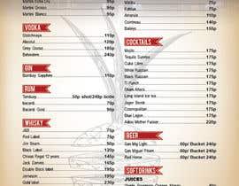 Nro 13 kilpailuun Design a drink menu for a bar käyttäjältä teAmGrafic