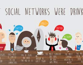 #13 for Killer infographic design needed - social networks as drinks by cundurs