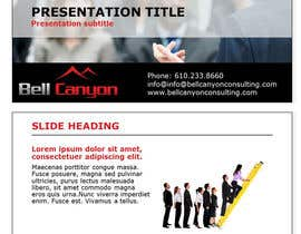 #35 untuk Design Powerpoint Template for Bell Canyon Consulting oleh smb88