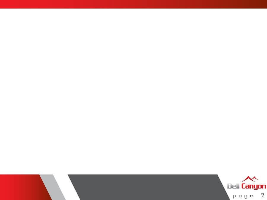 Penyertaan Peraduan #53 untuk Design Powerpoint Template for Bell Canyon Consulting
