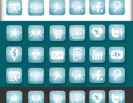 #6 para Design a range of Icons on a skinned background for a sporting app por parikhan4i