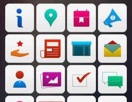 #23 untuk Design a range of Icons on a skinned background for a sporting app oleh noninoey