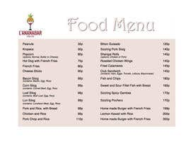 #34 untuk Design a food menu for a bar oleh damianhill40