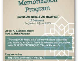 #4 cho Design a Flyer for Al Quran Memorisation Program bởi alromisa