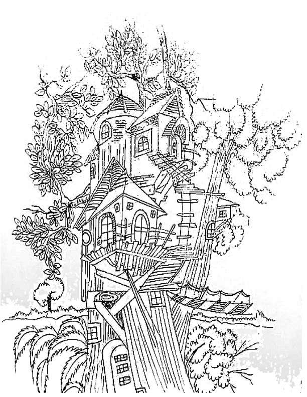 Konkurrenceindlæg #4 for A Coloring Book of Tree Houses