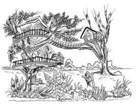 #11 for A Coloring Book of Tree Houses by Rahulbajad