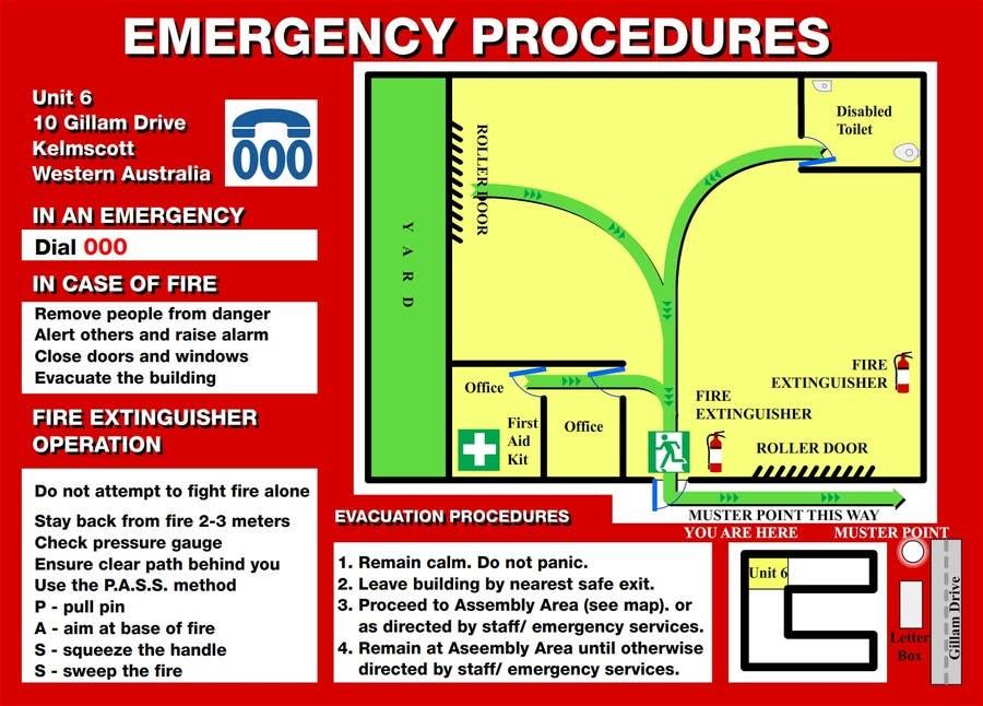 Penyertaan Peraduan #4 untuk emergency evacuation procedure