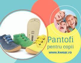 Nro 6 kilpailuun Realizează un design de pliant for Children shoes Webstore käyttäjältä jovanafirezar