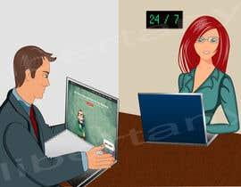 Nro 2 kilpailuun Create an illustration for landing page. käyttäjältä libertany