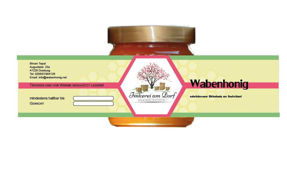 entry 9 by anjapangerl for design a bottle label honey jar label