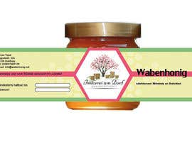 #9 untuk Design a bottle label (honey jar label) - Design eines flaschenetikett (honigglas etikett) oleh Anjapangerl