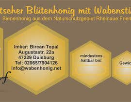 #22 for Design a bottle label (honey jar label) - Design eines flaschenetikett (honigglas etikett) af clamos