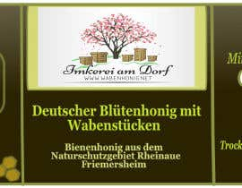 #11 for Design a bottle label (honey jar label) - Design eines flaschenetikett (honigglas etikett) af danijelaradic