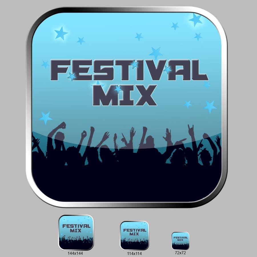 Bài tham dự cuộc thi #                                        25                                      cho                                         Design Iphone App Icon for a Music Festival Playlist app