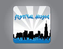 iCnHunter tarafından Design Iphone App Icon for a Music Festival Playlist app için no 13