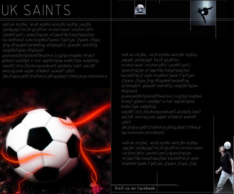 Contest Entry #21 for Graphic Design for uk saints brochure