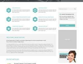 #23 untuk Design a Website Mockup for Computer Repair Website oleh negibheji