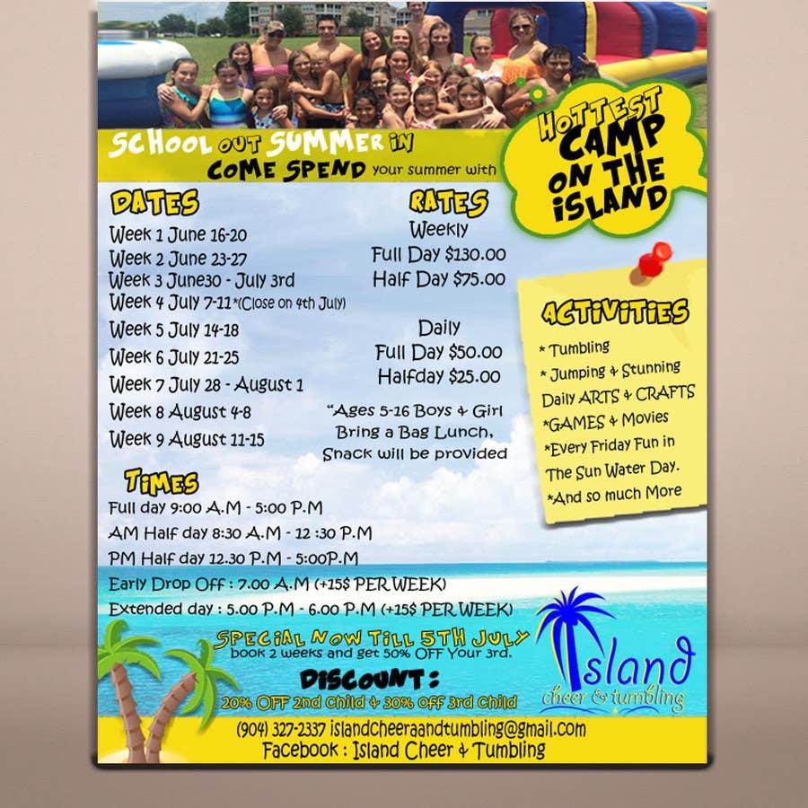 Penyertaan Peraduan #12 untuk Design a Flyer for Cheerleading summer camp