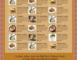#7 for Design a MENU for a Chinese Noodle Restaurant af Aliasgar19987