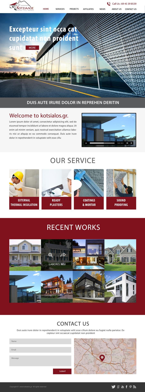Kilpailutyö #10 kilpailussa Design a Website Mockup for small building company
