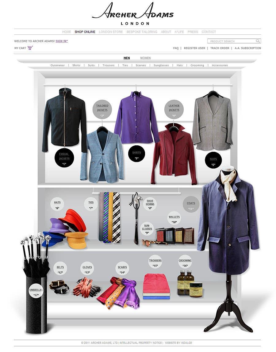 Natečajni vnos #                                        33                                      za                                         Design The Coolest Clothing Shop Landing Page in the World!