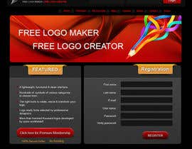 #33 för Sign Up page for Online Logo Maker av badhon86